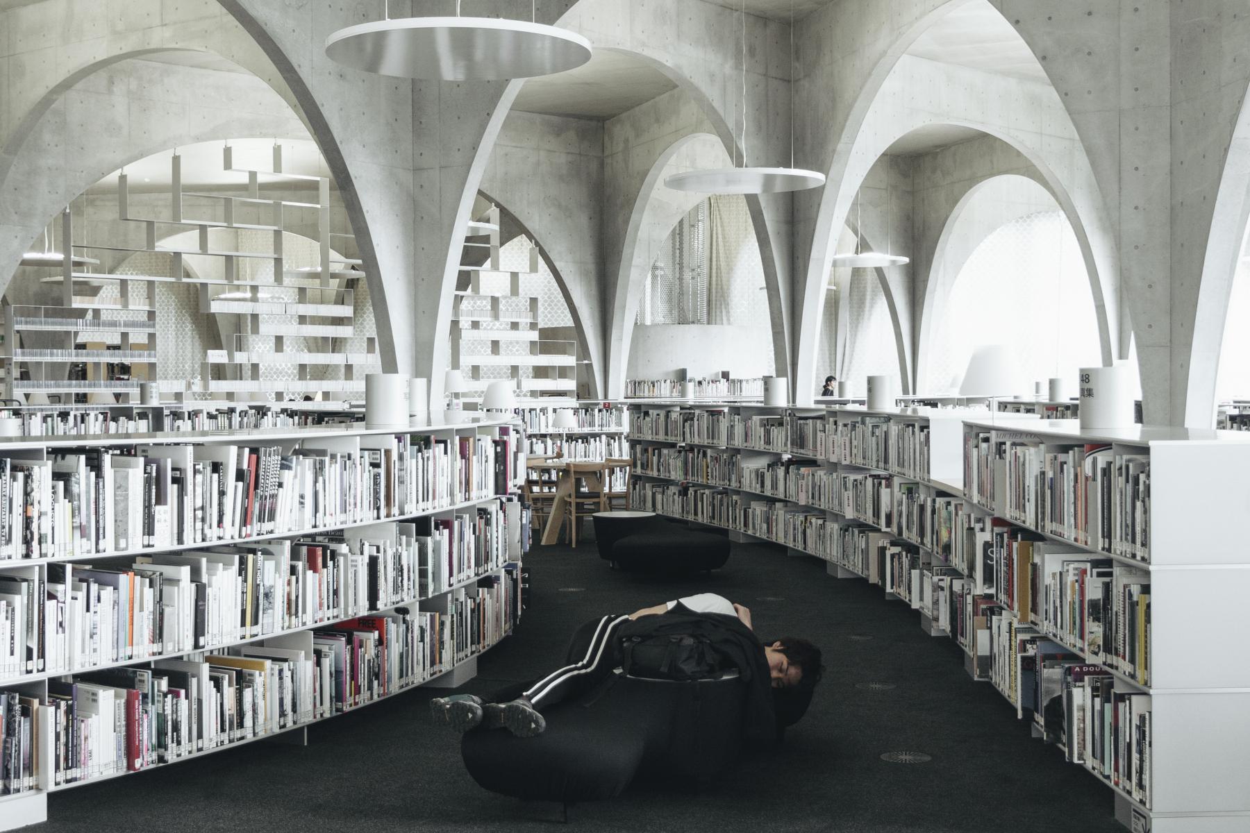 Tama Art University Library, Toyo Ito. Hachioji, Tokyo